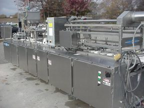 DEL DUAL LANE CUP FILLING, SEALING & LIDDING SYSTEM, PLC CONTROLLED