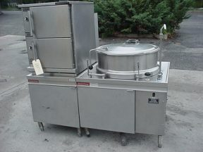 40 GALLON MARKET FORGE TILTING KETTLE WITH CONVECTION STEAM COOKER