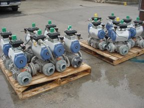 """PBM 3 WAY AND 2 WAY BALL VALVES, 3"""", AUTOMATIC (25 TOTAL)"""