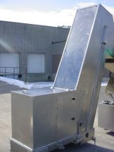 """24"""" WIDE STAINLESS STEEL INCLINED CLEATED BELT CONVEYOR"""
