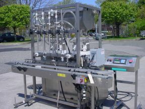 """INLINE FILLING SYSTEMS FOUR HEAD """"SERVO"""""""" POSITIVE DISPLACEMENT FILLER, All Stainless"""