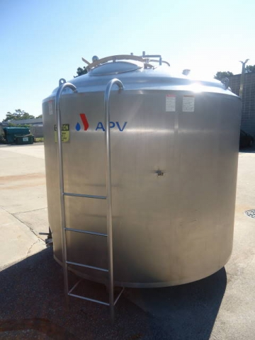 1,500 GALLON APV/CREPACO STAINLESS STEEL JACKETED AGITATED PROCESSOR-
