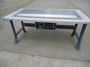 LIPSTICK CHILL TABLE, 36 INCH WIDE BY 72 INCH LONG