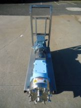 Waukesha 130 Stainless Steel Positive Displacement Pump, Portable