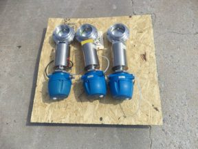GEA Type CCE-OD Air Actuated 4 Inch Diameter Sanitary Butterfly Valves, (3)