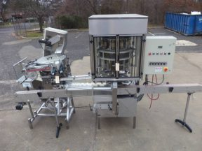 New England Machinery Ten Head Rotary Capper With  Feeder/Unscrambler