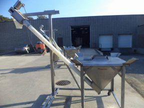Flexicon 4 In. Diameter Stainless Steel Flexible Screw Feeder/Conveyor, Portable-