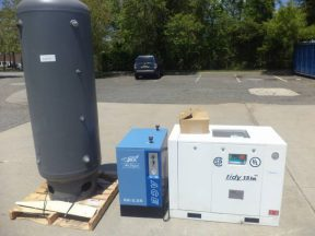 United States Air Compressor 15HP Compressor with Compressed Air Dryer and Expansion Tank