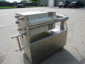 SeitzSchenk 12 In. X 12 In. Polypropylene Filter Press, Stainless Steel Frame
