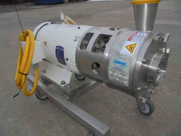 Admix DynaShear DS-575 Stainless Steel Inline High Shear Mixer, 15 HP Motor-