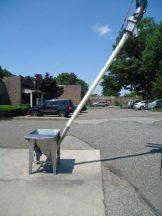 Hapman 4 In. Diameter Flexible Screw Conveyor With Hopper Prebreaker, 110 inch discharge height