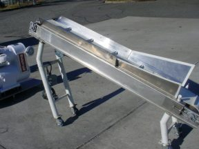 """12"""" W INCLINED CLEATED BELT CONVEYOR, 48"""" DISCHARGE HEIGHT"""