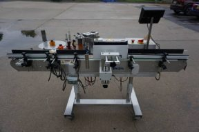CVC Technologies 300C Spot/Wraparound Pressure Sensitive Labeler, with Coder