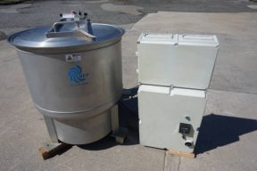 Bock/BEP FP-95 All Stainless Food Process Perforated Basket Centrifuge, Variable Speed
