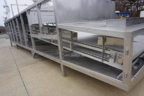 Abco 32 Ft. Long All Stainless Steel Cooling Conveyor, Two Tier