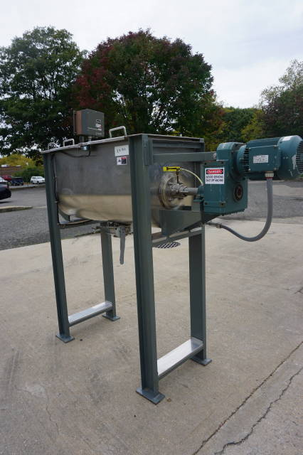 10 Cu. Ft. Bush Tank Stainless Double Ribbon Blender, Variable Speed Control
