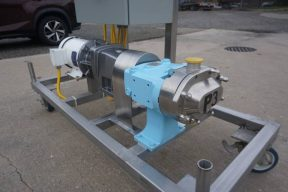 Waukesha 030U2 Stainless Steel Positive Displacement Pump, Variable Speed