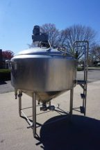 500 Gallon St. Regis/CP Stainless Jacketed Scraped Surface Kettle, Cone Bottom