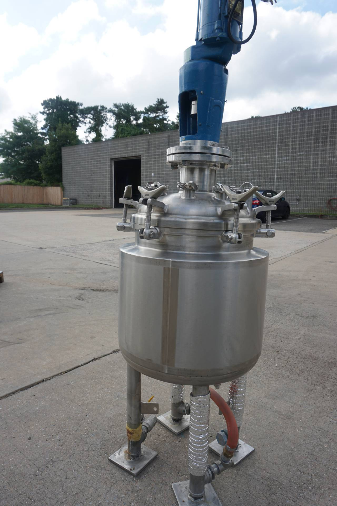 65 Liter Precision Stainless Jacketed Vacuum Reactor, 316L