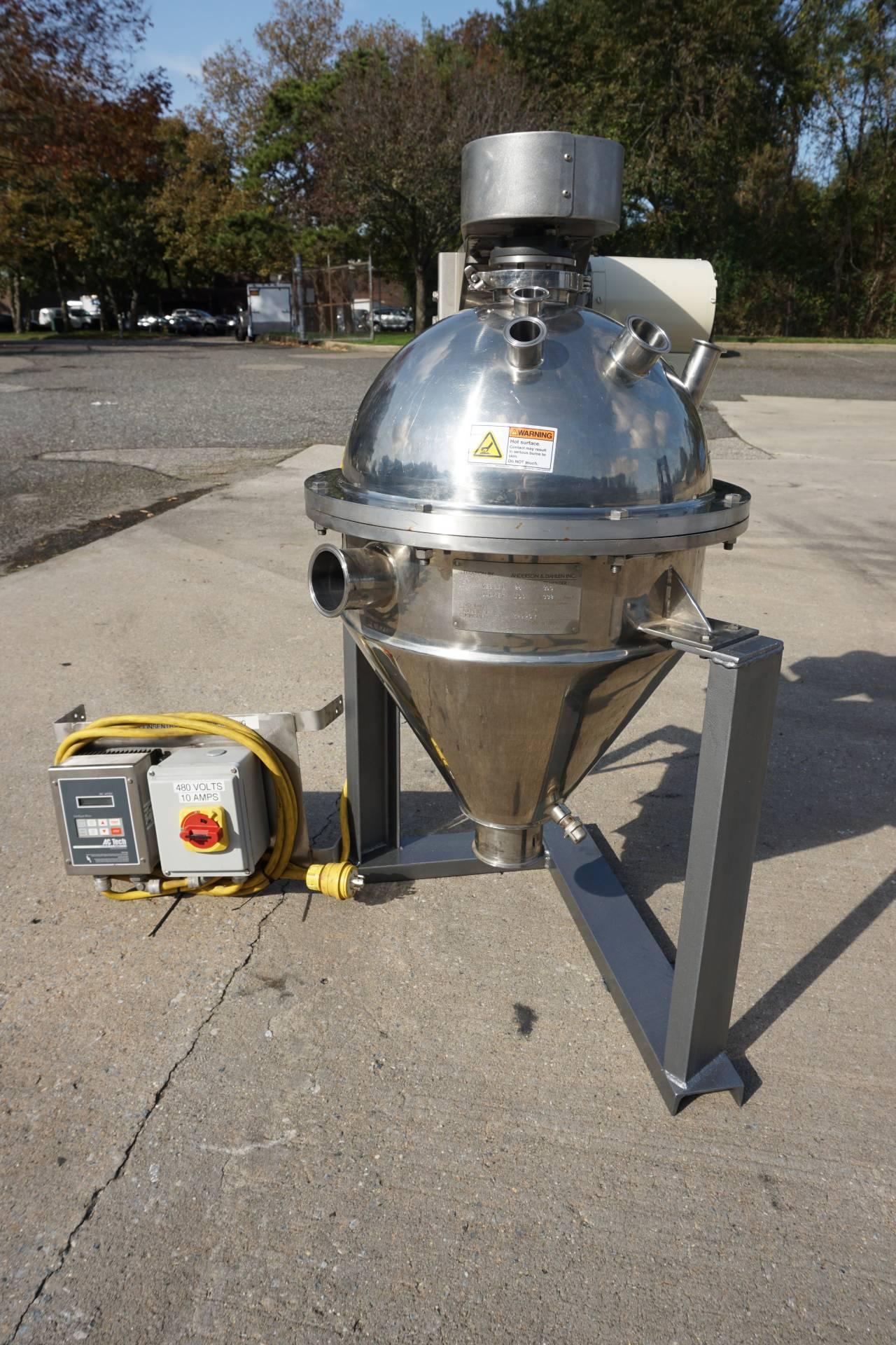 20 Gallon Groen Agitated Cone Bottom Flash Chamber/Kettle, Full Vacuum