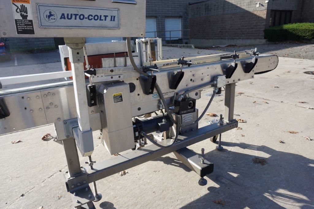 NJM  Auto Colt II Pressure Sensitive Spot/Wrap Around Labeling Machine