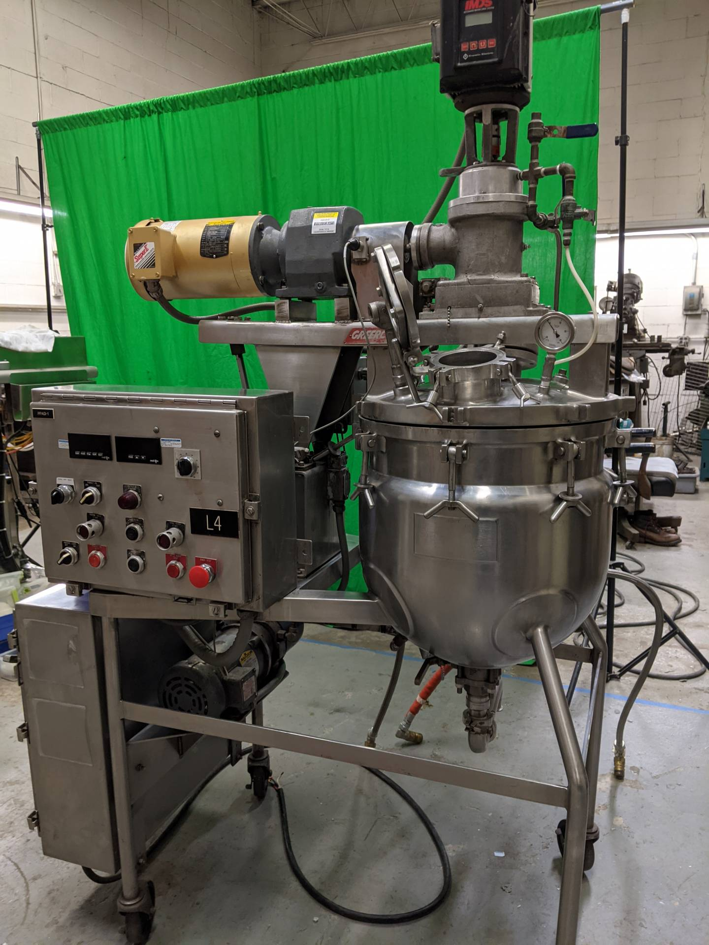 """15 Gallon Greerco """"Agi-Mix"""" Stainless Steel Triple Motion Vacuum Kettle/Reactor"""