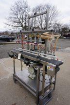 8 Spout Straight Line Liquid Overflow Filler With Diaphragm Pump