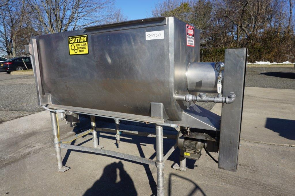 Will-Flow 20 Cu.Ft. Stainless Steel Horizontal Scraper Agitated Mixer, 130 PSI Jacket