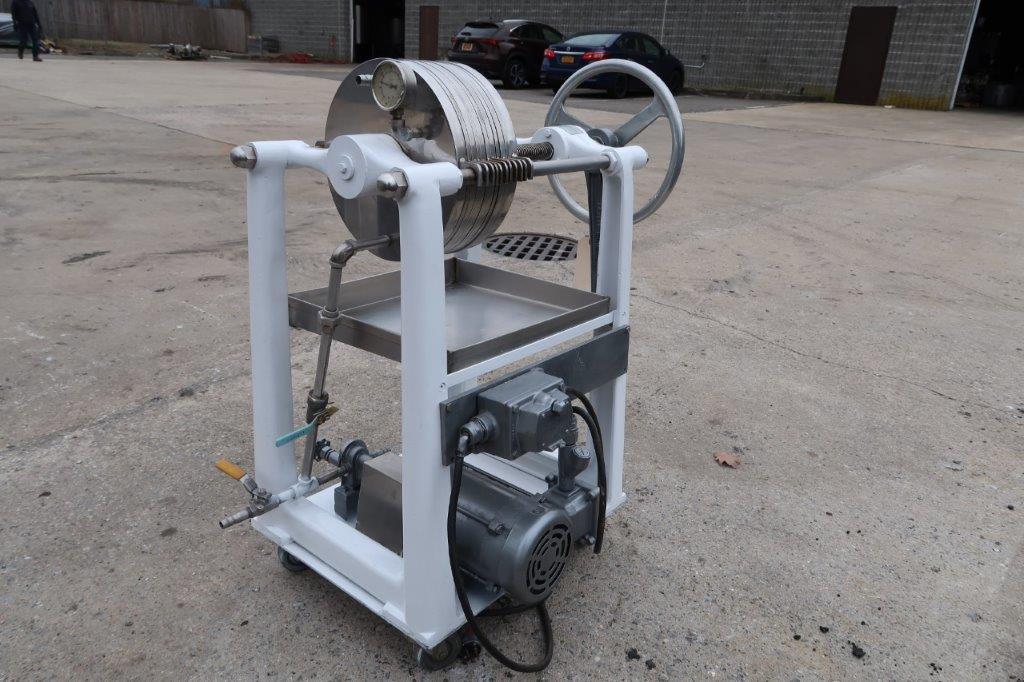 Ertel 2HS Twelve Inch Diameter Filter Press, with Pump, XP Motor