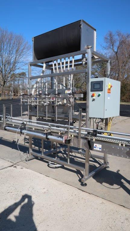 Apacks Six Head Automatic Sanitary Pressure Gravity Filling Machine, Expandable