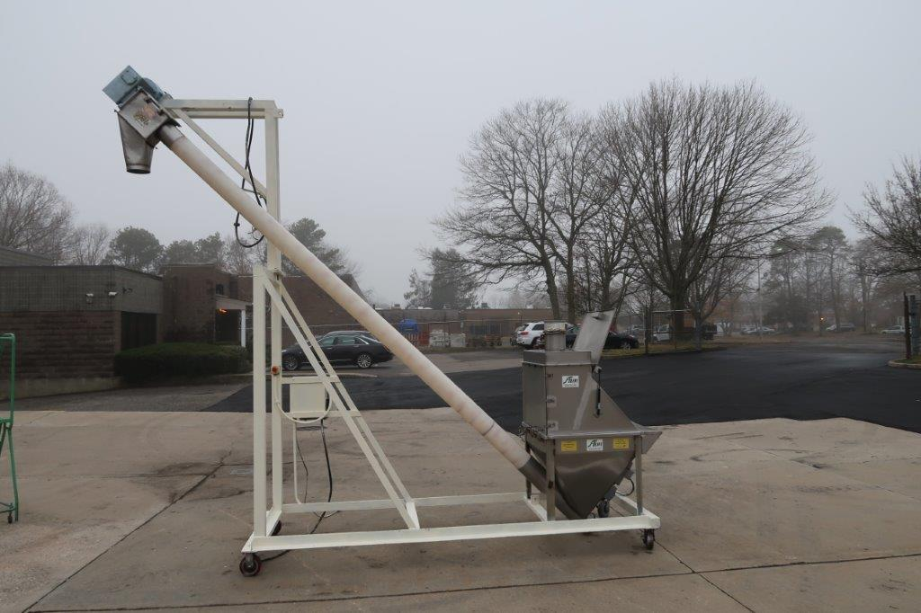 AIM 6 In. Diameter Inclined Flexible Screw Conveying System, Portable