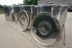 488 Gallon L.A. Inox (Italy) Wine Tanks with Floating Lids (4)