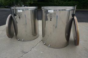 264 Gallon L.A. Inox (Italy) Wine Tanks with Floating Lids (2)