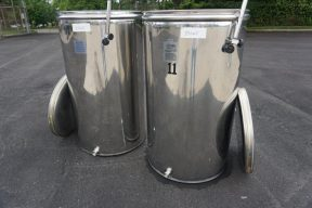 132 Gallon L.A. Inox (Italy) Wine Tanks with Floating Lids (2)