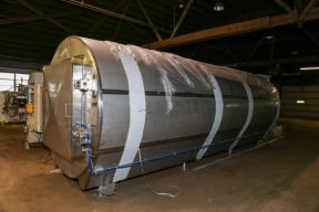 90 In. Diameter X 20 Ft. Long Stainless Steel Horizontal Autoclave