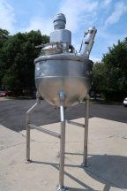 250 Gallon Groen 316 SS Triple Motion Closed Pressure Mixing Kettle, 100 PSI Jacket