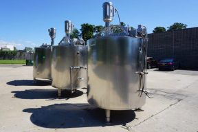 650 Gallon Lee Dual Action 316SS Mix Kettle, with Admix 20HP High Shear Mixer