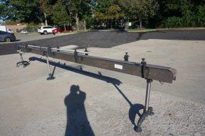 SureKap 4 ½ In. Wide X 20 Ft. Long Stainless Motorized Bottle Conveyor