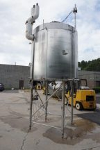 1,200 Gallon Cherry Burrell Stainless Jacketed Closed Tank