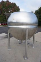 500 Gallon Spherical Jacketed Kettle, 316 SS