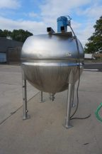 500 Gallon 316 SS Spherical Jacketed Kettle, with Silverson 7.5HP High Shear Mixer