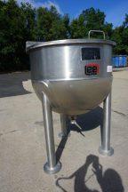100 Gallon Lee Hemispherical Kettle, 316 Stainless Steel
