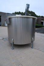 Permasan 1,100 Gallon Stainless Vertical Mix Tank